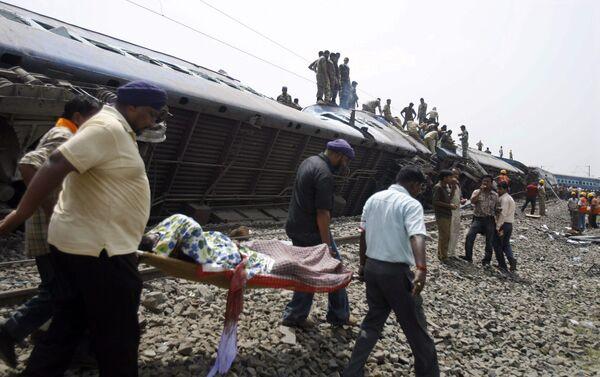 Подрыв пассажирского поезда в Индии