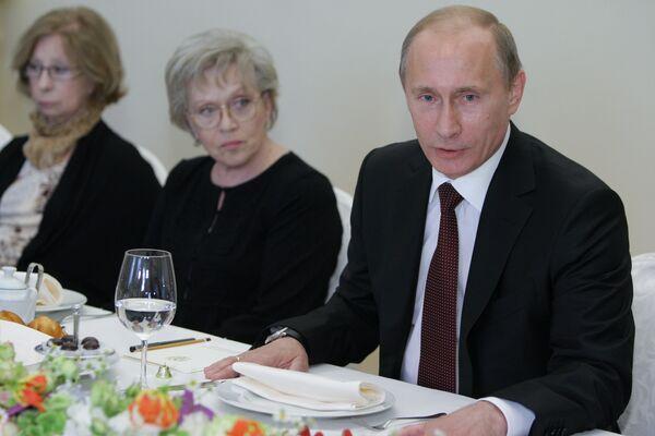 Встреча Владимира Путина с организаторами благотворительного вечера Маленький принц