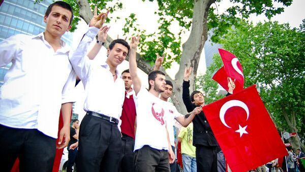 Митинг-протест у Израильского посольства в Стамбуле. Архивное фото