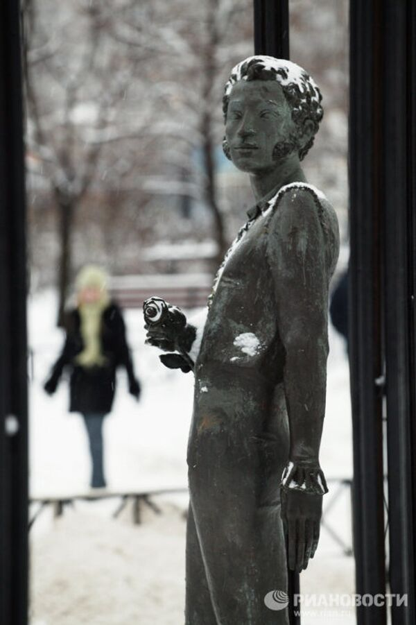 Скульптура русского поэта А.С. Пушкина