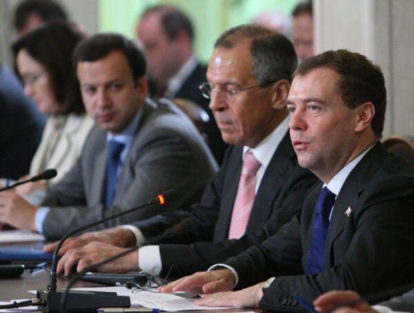 Президент РФ Д.Медведев принимает участие в саммите Россия-ЕС. Архив