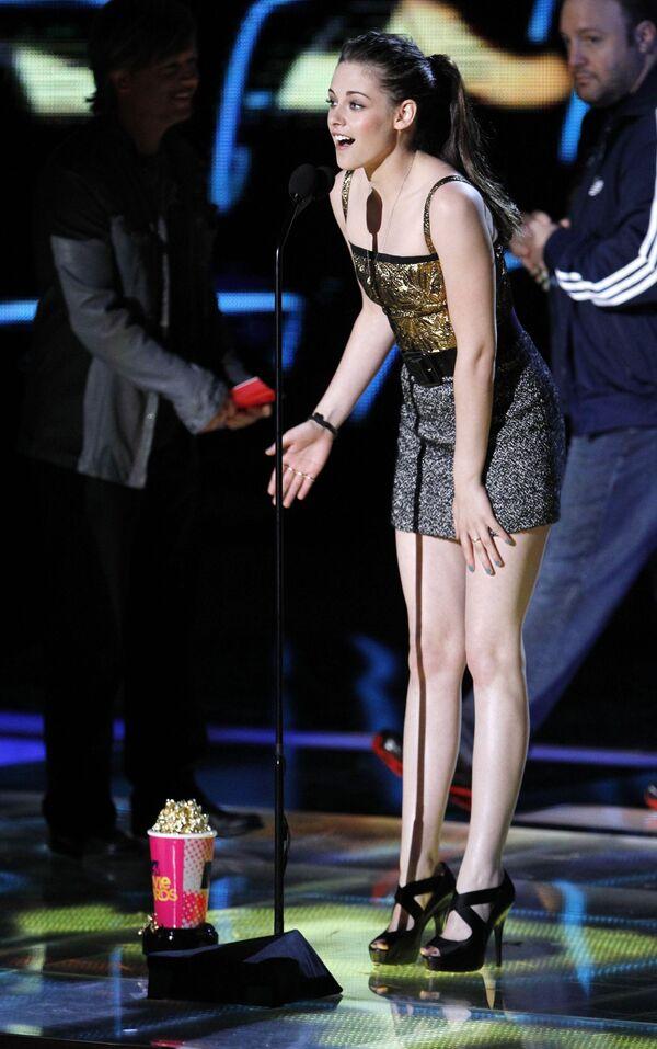 Зрители MTV назвали звезду Сумерек Кристен Стюарт лучшей актрисой года