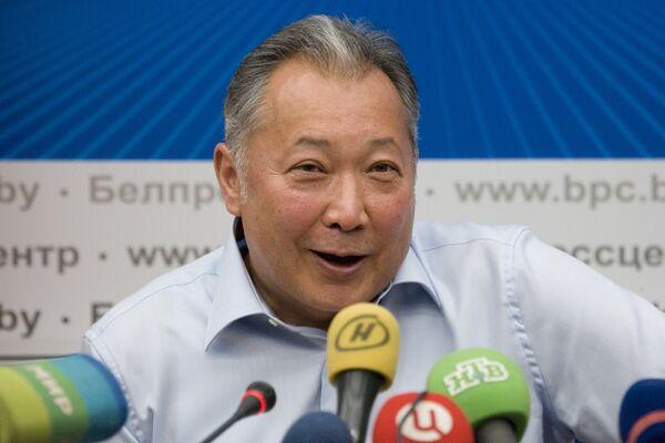 Пресс-конференция Курманбека Бакиева в Минске