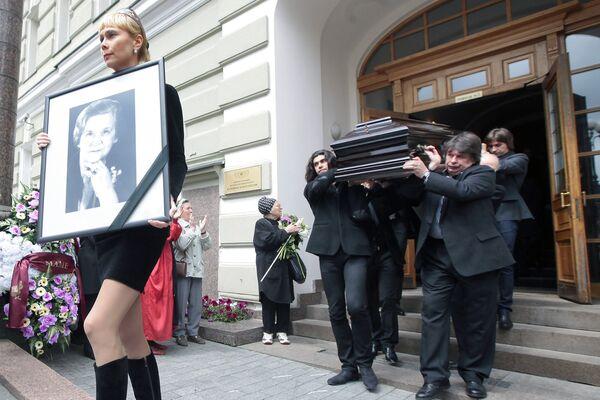 Церемония прощания с балериной Мариной Семеновой