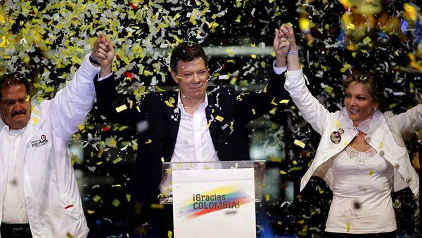 Победитель президентских выборов в Колумбии Хуан Мануэль Сантос