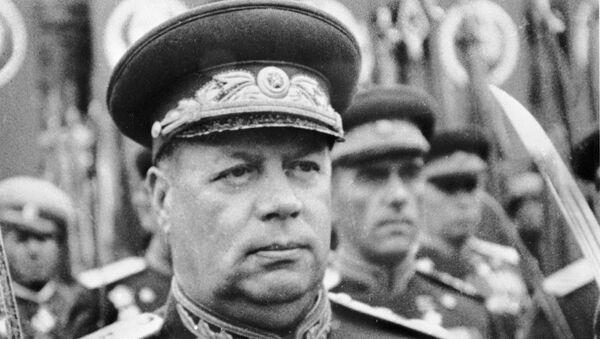 Маршал Советского Союза Ф.И.Толбухин на параде в Москве