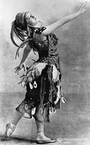 Тамара Карсавина в балете «Жар-птица»