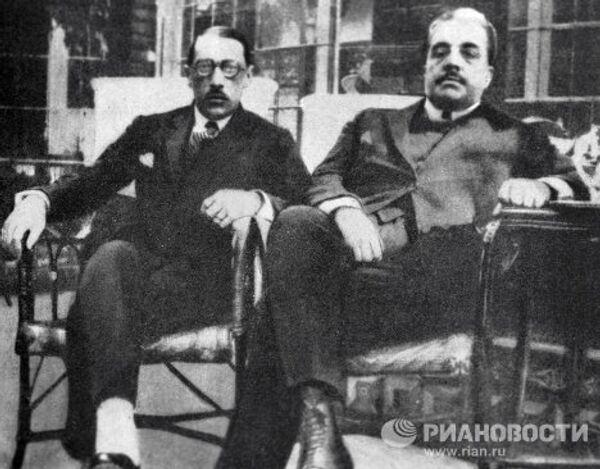 Сергей Дягилев и Игорь Стравинский