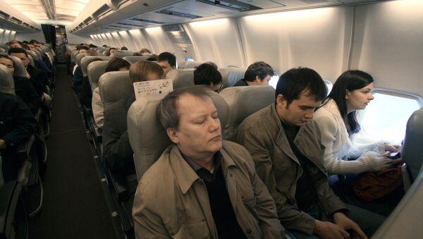 В салоне самолета. Архивное фото