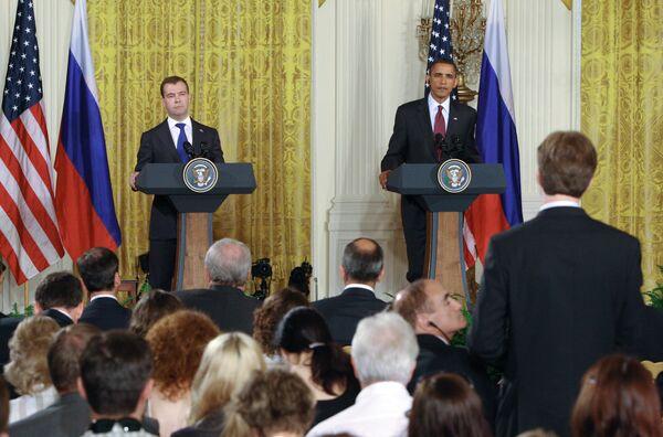 Совместная пресс-конференция Дмитрия Медведева и Барака Обамы