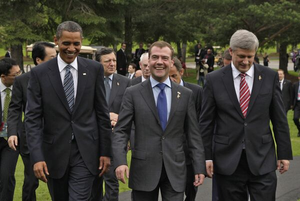 Президент РФ Д. Медведев принял участие в саммите G8 в Канаде