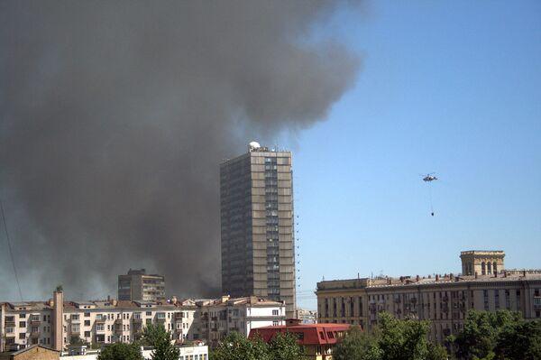 Пожар в здании ЦКБ Алмаз в Москве