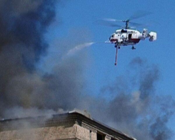 Пожар в здании ЦКБ Алмаз потушили с помощью вертолетов