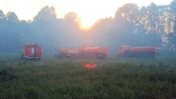 Лесной пожар в окрестностях Уфы