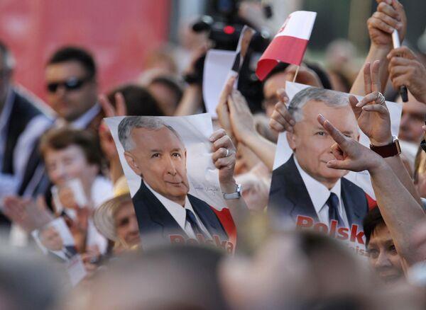 Кампания по выборам президента Польши. Сторонники Ярослава Качиньского