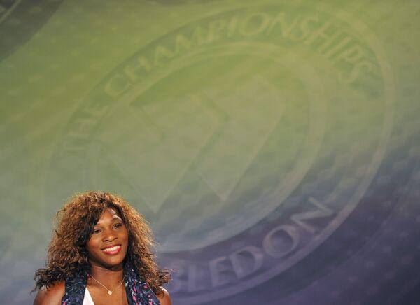 Серена Уильямс на пресс-конференции после победы на Уимблдоне-2010