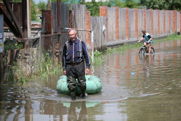 Подтопленные дачные участки в черте Новосибирска