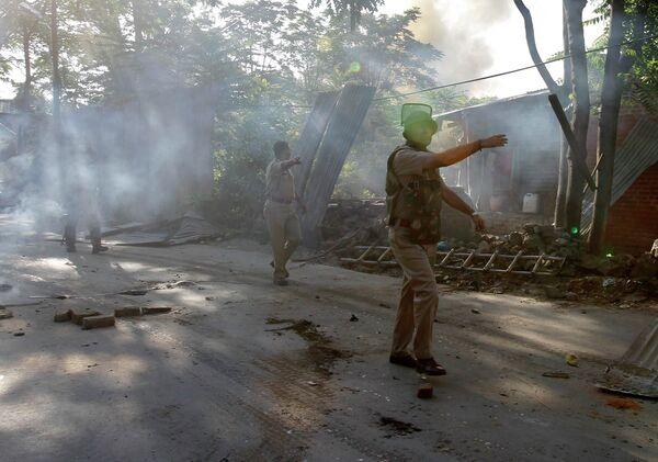 Индийские военные на территории Кашмира
