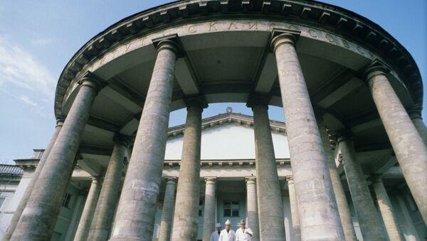 Здание НИИ имени Н. В. Склифосовского. Архивное фото