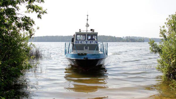 Патрульный катер Истринского водохранилища. Архивное фото