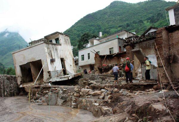 Проливные дожди на юго-западе Китая