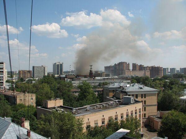 Пожар в Центре академика И.Э. Грабаря