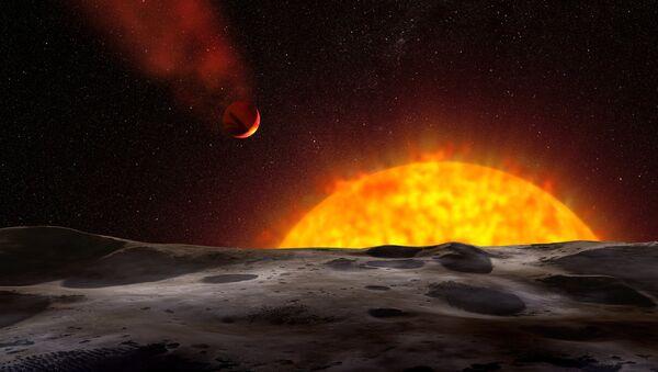 «Хвостатая» планета HD 209458 b глазами художника