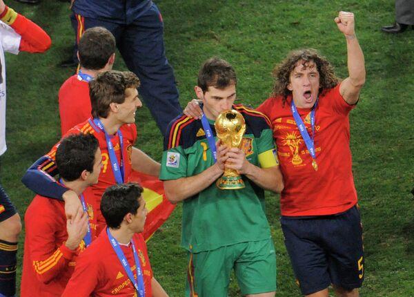 Футболисты сборной Испании. Архив