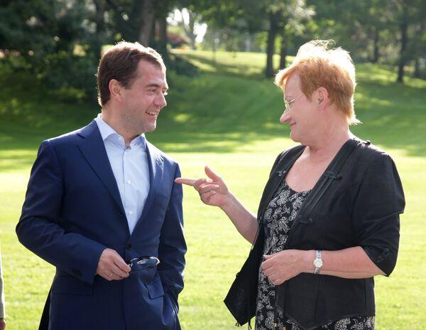 Рабочий визит президента РФ Дмитрия Медведева в Финляндию