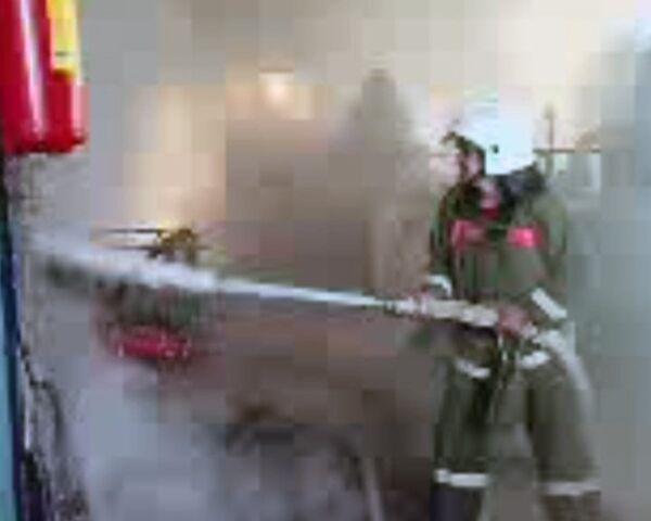 Первые минуты после взрыва на Баксанской ГЭС. Видео с места ЧП