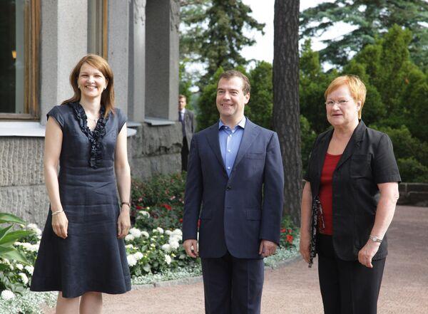 Встреча Дмитрия Медведева и Тарьи Халонен