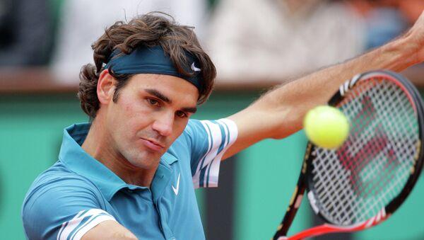 Теннис. Ролан Гаррос-2010. Роджер Федерер (Швейцария) - Станислас Вавринка (Швейцария)