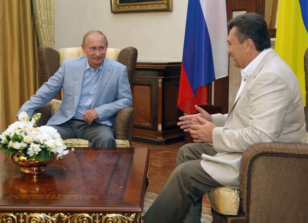 Встреча премьер-министра РФ Владимира Путина с президентом Украины Виктором Януковичем