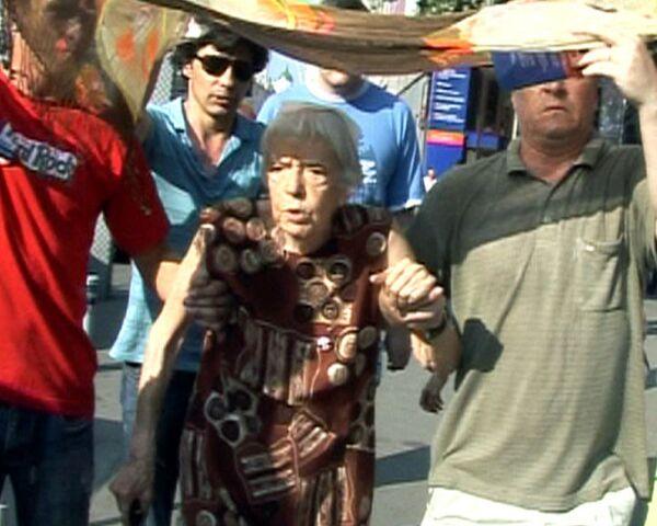 Людмила Алексеева на Триумфальной площади 31 июля