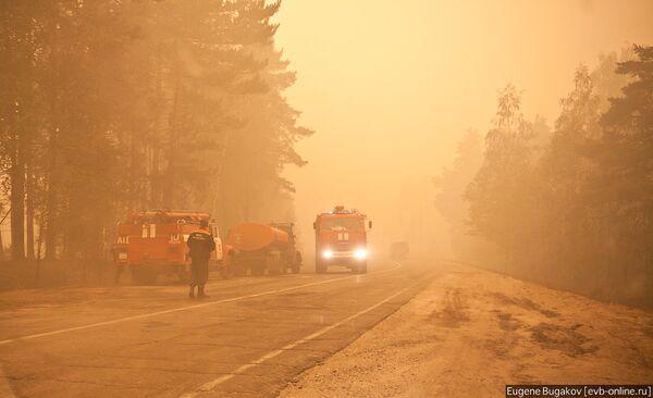 Огонь уничтожает села в Рязанской области
