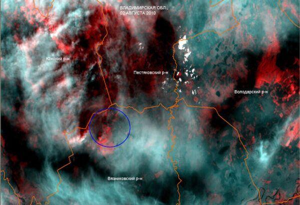 Лесные пожары во Владимирской области. Вид из космоса