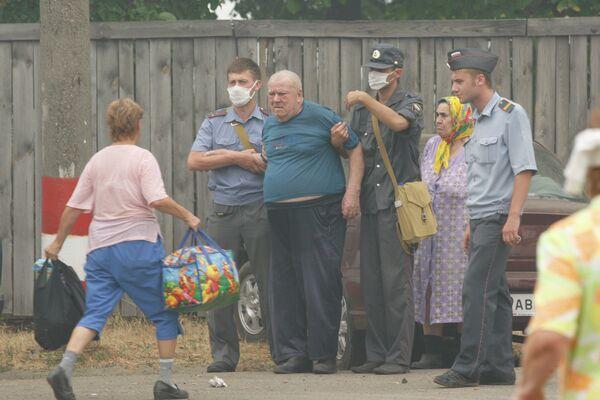 Эвакуация жителей рабочего поселка Виля Нижегородской области из зоны природных пожаров