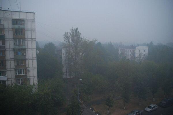 Смог на юго-востоке Москвы. Архив