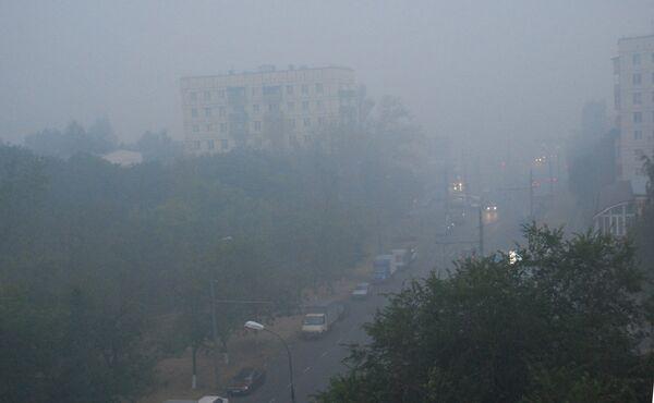 Сильнейший смог от лесных пожаров окутал Юго-Восток Столицы
