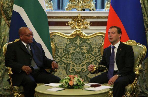 Встреча президентов России и ЮАР