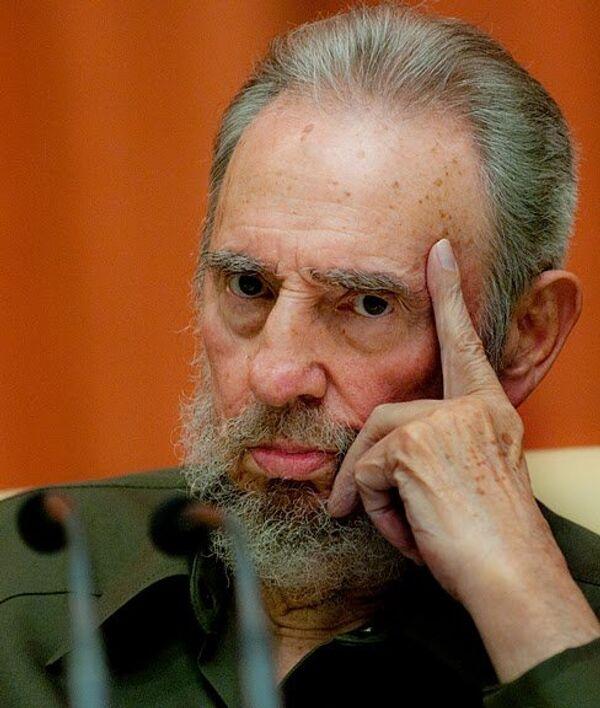 Фидель Кастро на специальной сессии Национальной ассамблеи народной власти Кубы.