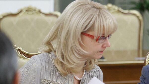 Министр социального развития и здравоохранения РФ Татьяна Голикова