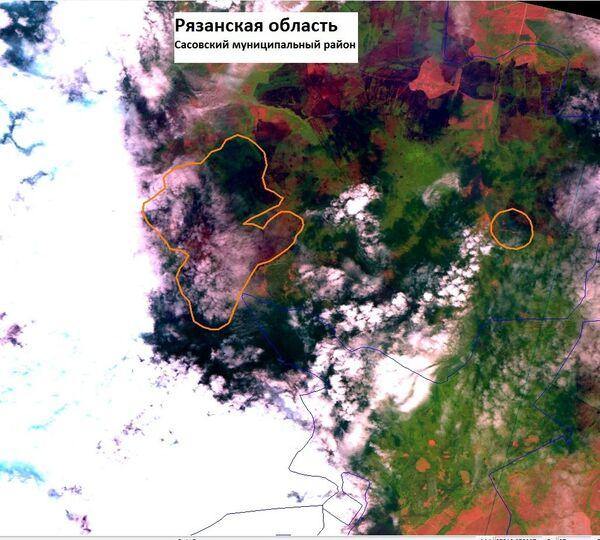 Спутниковые фотографии очагов возгорания