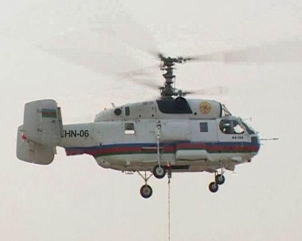 Вертолеты спасателей из Азербайджана тушат пожар под Рязанью