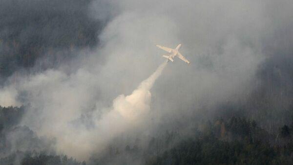 Противопожарный самолет-амфибия Бе-200