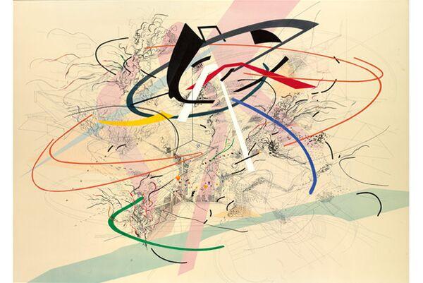 Жюли Мерету (Julie Mehretu). Untitled 1. 2001 год. Один из лотов предстоящего аукциона Sotheby`s по продаже коллекции банка Lehman Brothers