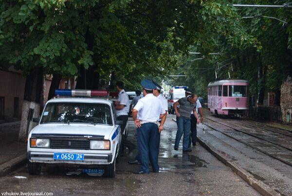 В Пятигорске взорвали машину рядом с кафе