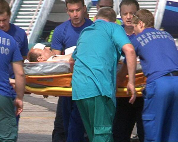 Самолет с пострадавшими при взрыве в Пятигорске приземлился в Домодедово