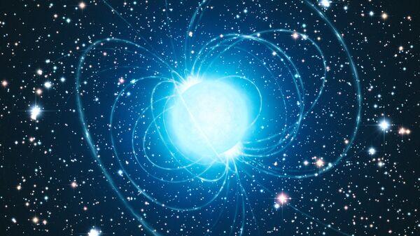 Магнетар в кластере Вестерлунда 1 глазами художника