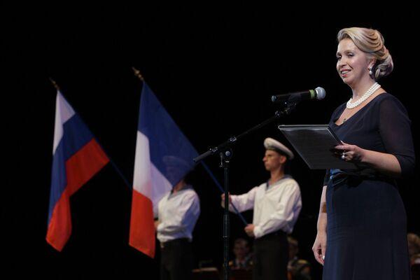 Супруга президента России Светлана Медведева на церемонии официального открытия Фестиваля российского искусства